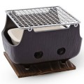 Black Rectangular Charcoal BBQ Konro