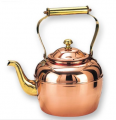Decor Copper Teakettle with Brass Handle