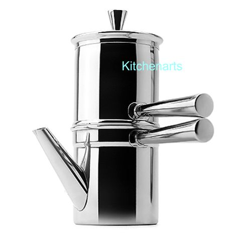 One Cup Stainless Steel Coffee Maker : Stainless Steel Neapolitan Coffee Maker 1 to 2 cups - KitchenArts.com