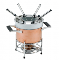 Copper Fondue Set with Ceramic Insert