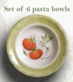 Vegetable Pasta Bowls  set of 6