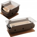 Brown Rect Charcoal BBQ Konro made in Japan