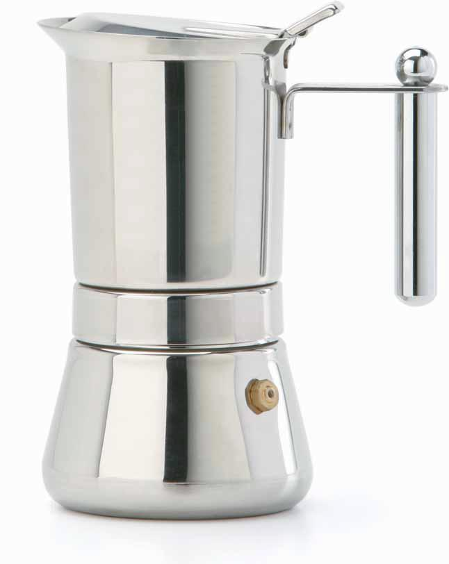 Vespress Stainless Steel Espresso Maker 6 cup size made in Italy