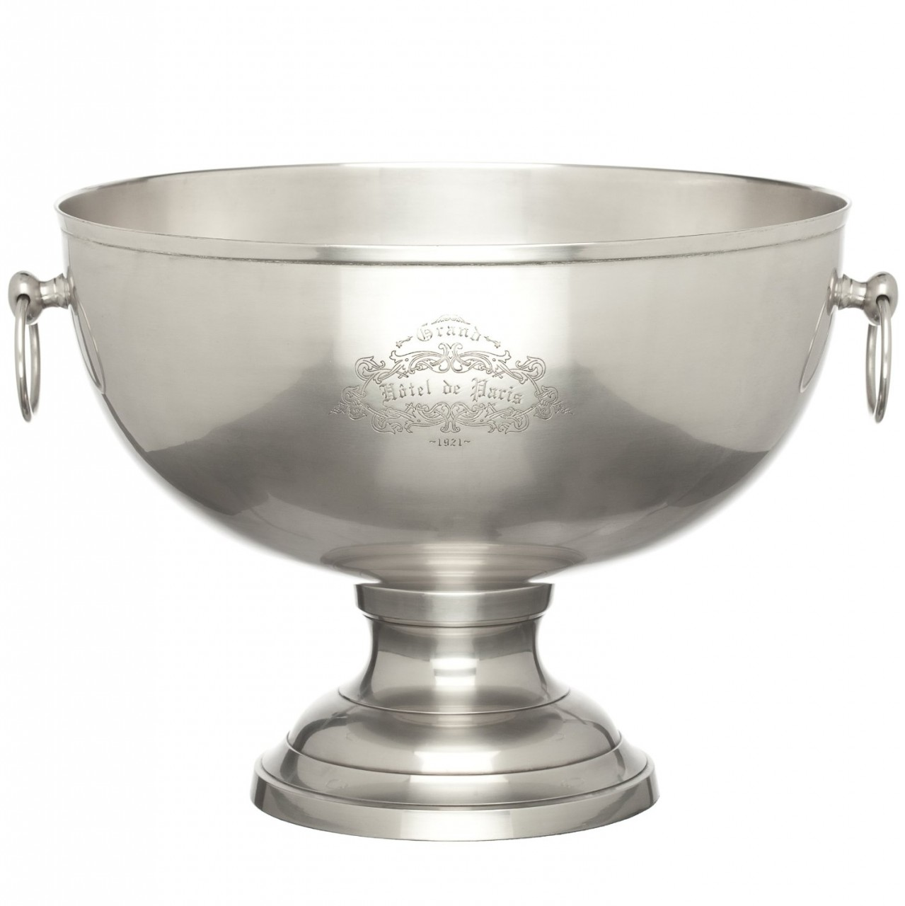 Palais royal grand cafe pewter finish footed centerpiece bowl - Footed bowl centerpiece ...
