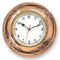 Copper Grape Motif Clock