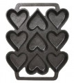 Cast Iron Heart Shaped Cake Pan
