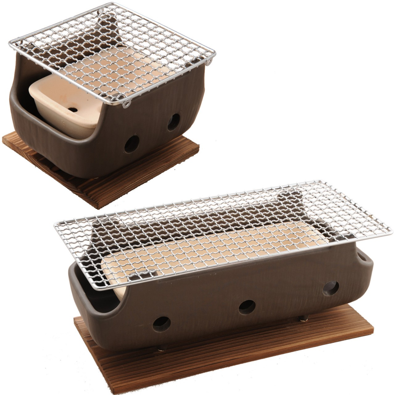 Home grills tabletop charcoal grill 22 grills tabletop charcoal grill - Brown Rect Charcoal Bbq Konro