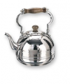 Stainless Steel Windsor Whistling Teakettle with Wood Handle